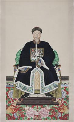 Painting: ancestor portrait;