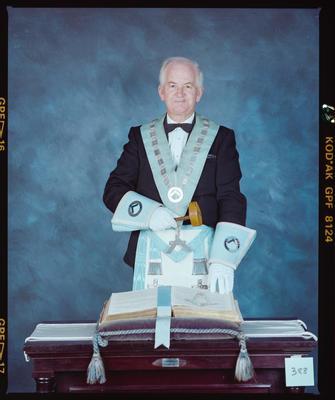 Negative: Mr Gray Freemason Portrait