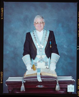Negative: Mr Peter Hickman Freemason Portrait