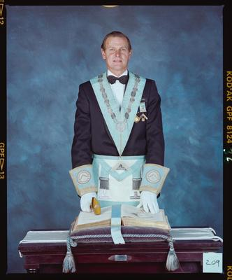 Negative: Mr Hartnell Freemason Portrait