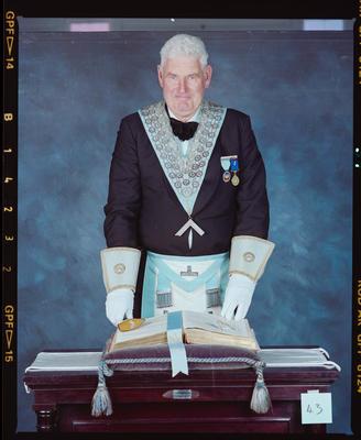 Negative: Unnamed Man Freemason Portrait