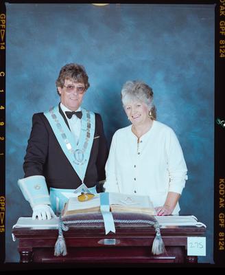 Negative: Mr John Gibson Freemason And Unnamed Woman