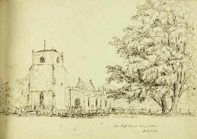 Sketch: Stoneleigh Church, Warwickshire, 20 July 1850