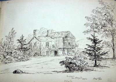 Sketch: Penlanole near Rhayade, 12 August 1850
