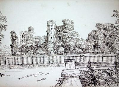 Sketch: Ruins of Coudray House Midhurst, Sussex, 15 August 1850