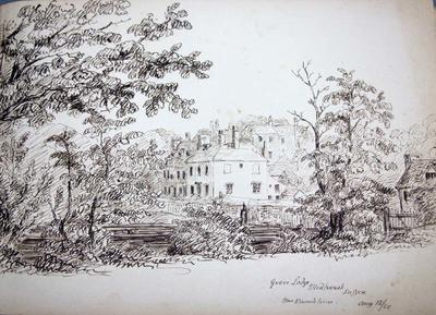 Sketch: Grove Lodge, Midhurst, Sussex, 15 August 1850