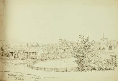 Sketch: Midhurst, Sussex, 16 August 1850