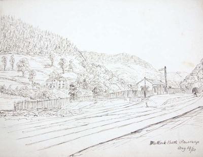Sketch: Matlock Bath Parsonage, 19 August 1850