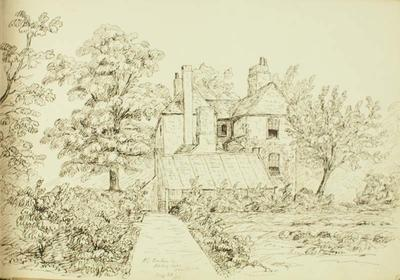 Sketch: J G Barker Esq's House, Abbey Hill Kenliworth, 20 August 1850