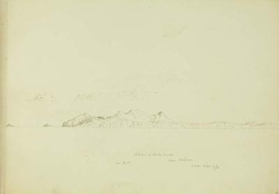 Sketch: Island of Porto Santo near Madeira 17 September 1850