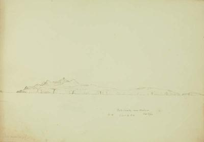 Sketch: Porto Santo near Madeira 17 September 1850