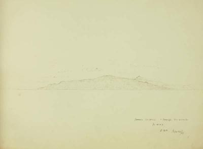 Sketch: Gomera and Teneriffe, 20 September 1850