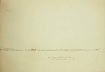 Sketch: View of the Coast of New Zealand, 14 December 1850