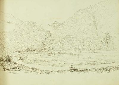 Sketch: On the Rangitata,  12 October 1861
