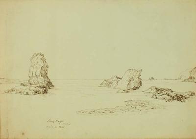 Sketch: Shag Rock Sumner, 4 April 1855