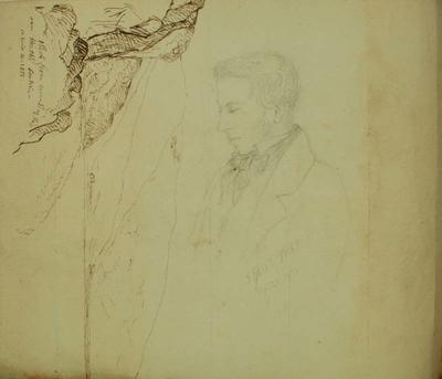 Sketch: T Hall Esq, 20 April 1856
