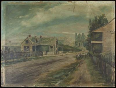 Painting: Oxford Tce, Ch.Ch. in 1866
