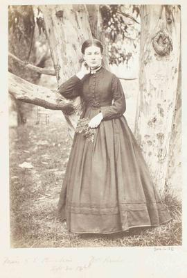 Photograph: Miss S E Barker, 30 September 1868; 30 Sep 1868; 2016.16.22