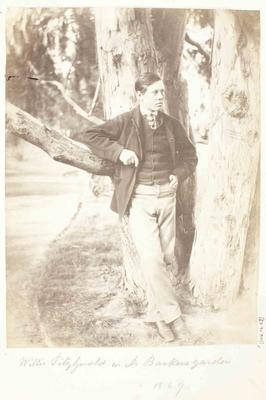 Photograph: Willie Fitzgerald in Dr A C Barker's Garden, 1869