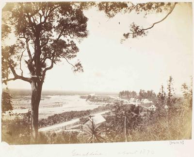 Photograph: Landscape View of Geraldine, c1870