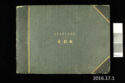Album: Statuary S.D.B; Circa 1860-1870s; 2016.17.1