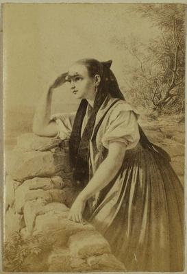 Photograph: A Young Lady Waits, Illustration