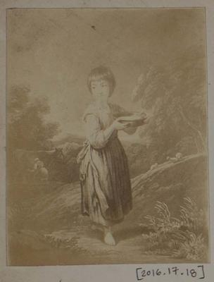 Photograph: Barefoot Child with Platter, Illustration