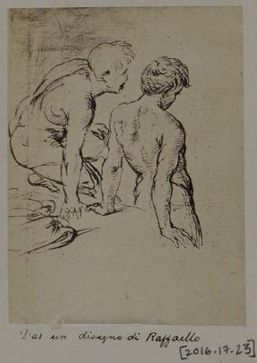 Photograph: Two Naked Young Men by Raffaello, Sketch