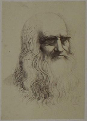 Photograph: Self-Portrait by Leonardo Da Vinci, Sketch