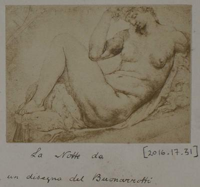 Photograph: Reclining Figure by Buonoverotti, Sketch