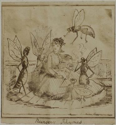 Photograph: Girl with Flying Friends, Illustration