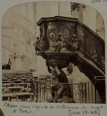 Photograph: Elaborate Pulpit, Carving