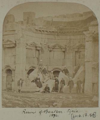 Photograph: Ruins of Baalbec in Syria, 1874