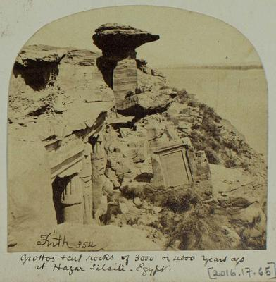 Photograph: Grottos at Hagar Silsili in Egypt