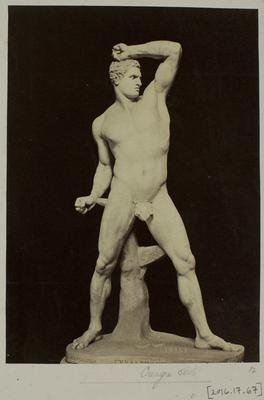 Photograph: Male Sculpture with Arm Raised