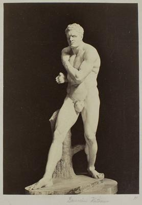 Photograph: Male Sculpture with Arm Crossing Chest