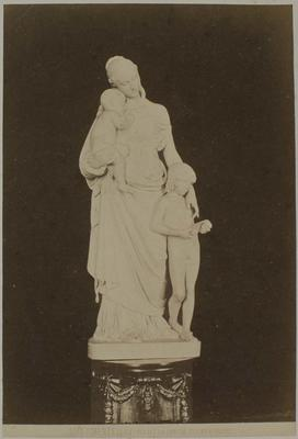 Photograph: Female with Infant and Child, Sculpture