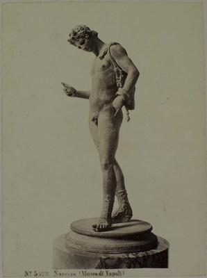 Photograph: Naked Male with Bag and Shoes, Sculpture