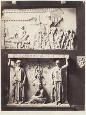 Photograph: Two Wall Reliefs, Sculpture