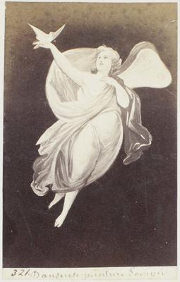 Photograph: Floating Figure with Doves