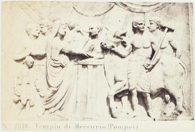 Photograph: Wall Sculpture of Market and Bull