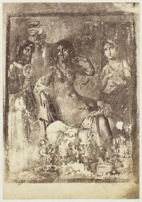 Photograph: Three Figures in Fresco