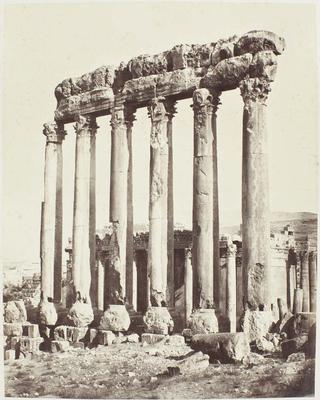 Photograph: Ruin Pillars, Baalbec