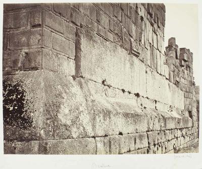 Photograph: Stone Wall, Baalbec