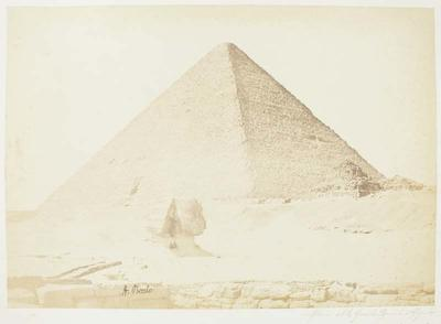 Photograph: Pyramid and Sphinx, Egypt