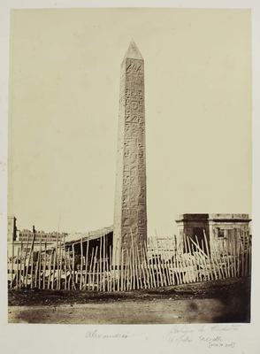 Photograph: Oblisque de Cleopatra, Alexandria.