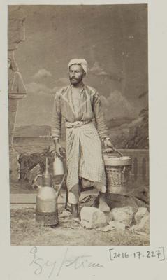 Photograph: Egyptian Man in Studio