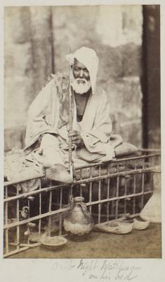 Photograph: Arab Night Watchman on His Bed