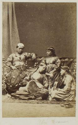Photograph: Arab Harem Women with Musical Instruments