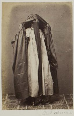 Photograph: Veiled Arab Woman, Cairo